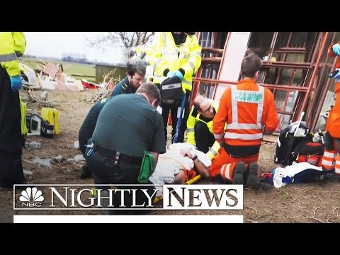 Man Realizes He's Being Rescued by Prince William During Helicopter Flight | NBC Nightly News