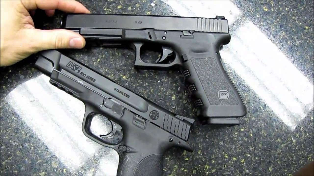 Glock 34 vs. S&W M&P Pro Series (Part 1) - YouTube