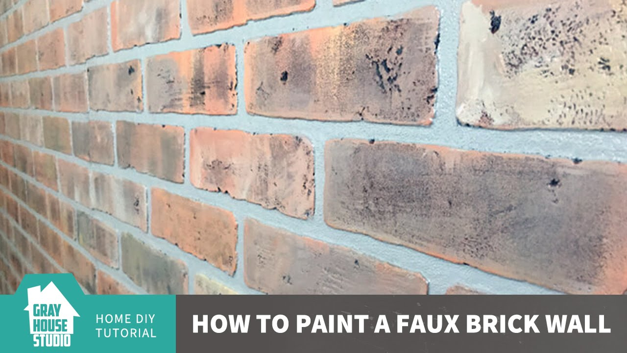 How To Paint Faux Brick Wall Panels
