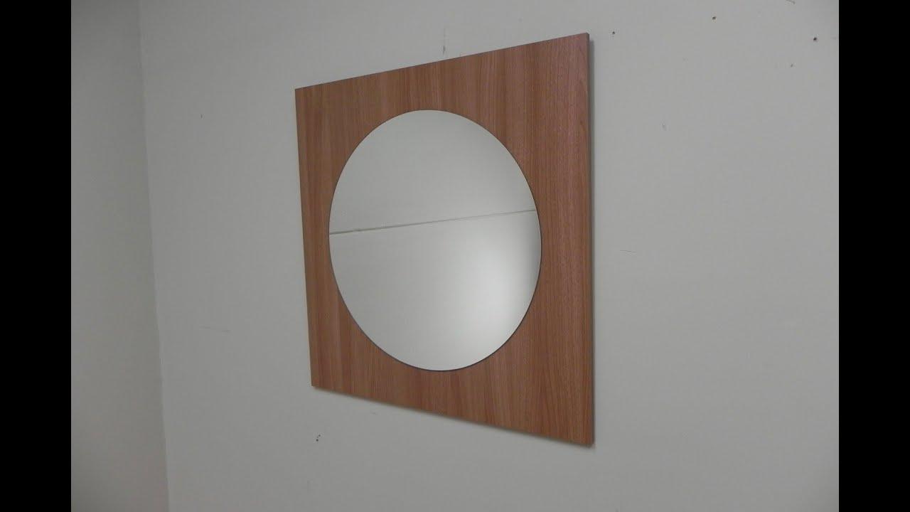 Descatalogado espejo 80x80cm redondo marco cuadrado en for Espejo redondo grande