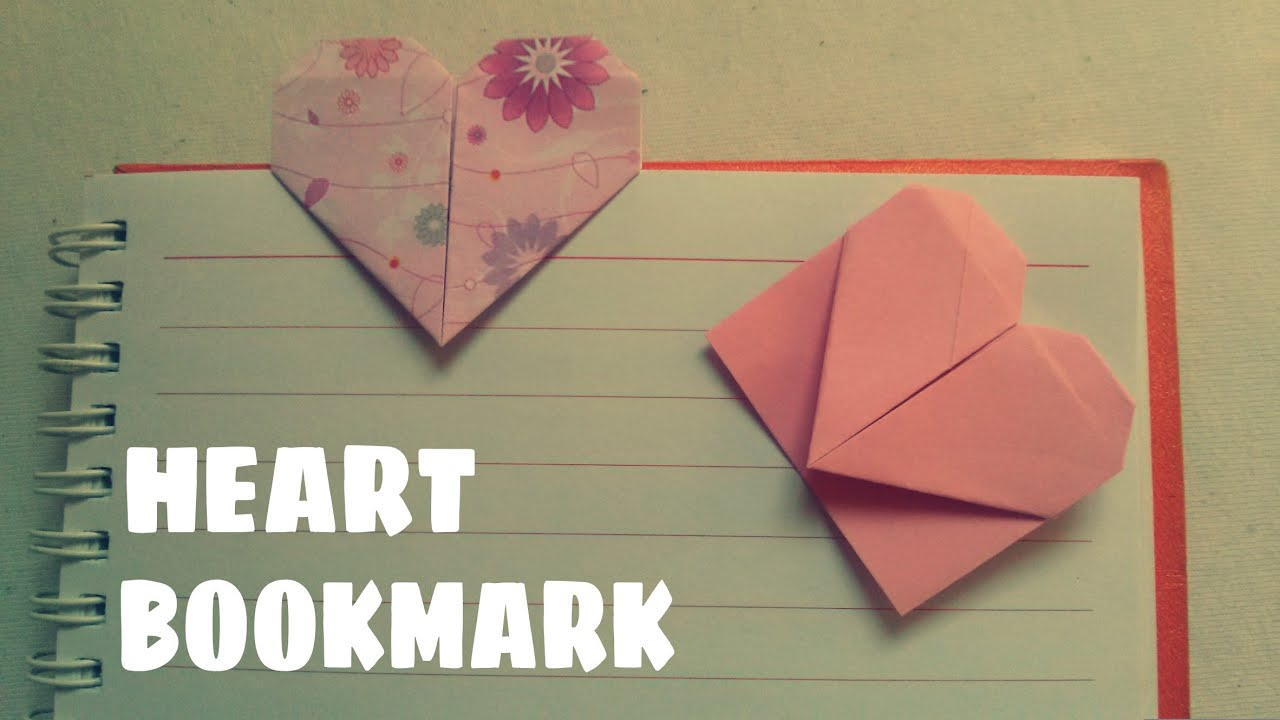 Origami Heart Bookmark Origami Easy Youtube