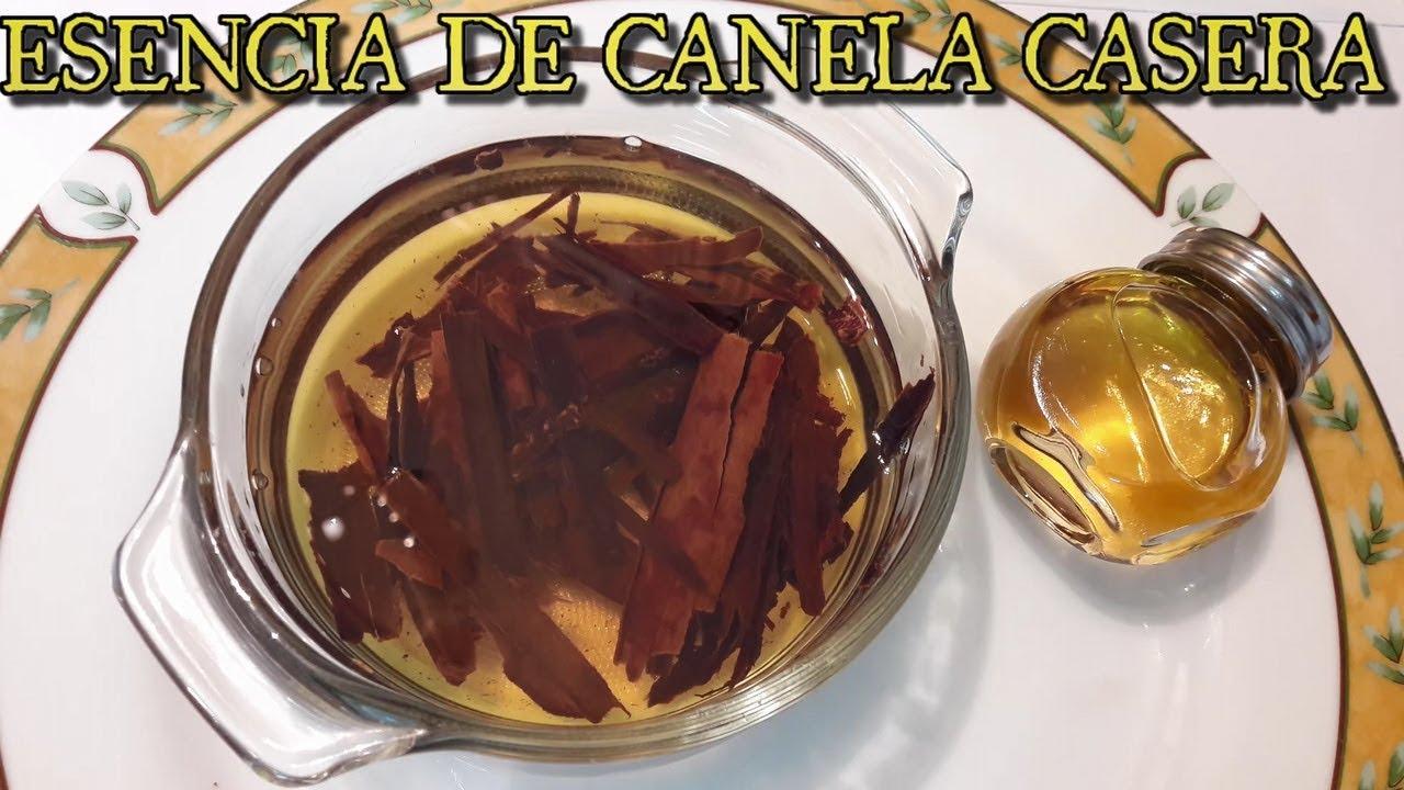 Como preparar aceite de canela casero