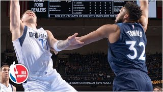 Luka Doncic, Karl-Anthony Towns net double-doubles as Timberwolves defeat Mavericks | NBA Highlights
