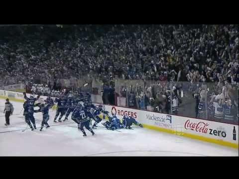 Alex Burrows OT Winner Vs Chicago - Handshakes - R1G7 2011 Playoffs - 04.26.11 - HD