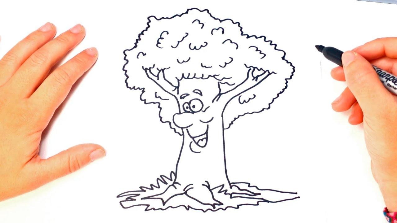 Como Dibujar Un Arbol Para Niños Dibujo De Arbol Paso A Paso Youtube