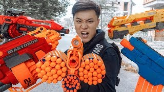 GUGU Nerf War : Police CID Dragon Nerf Guns Fight Criminal Group SKMAN Mask Guard Of The Arsenal