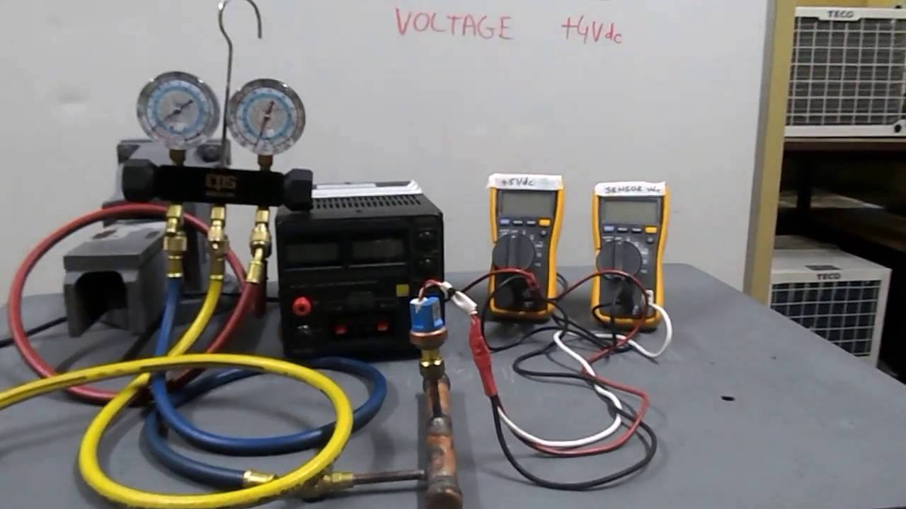 Pressure Transducer testing on Air-Conditioner units. - YouTube