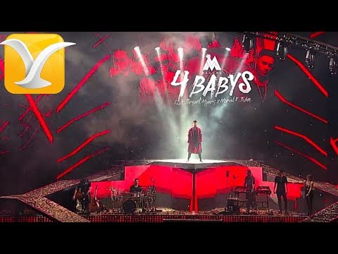 Maluma  - Cuatro Babys -  Festival De Viña Del Mar 2017 HD 1080p
