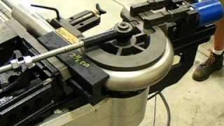 """Ercolina 030 Mega Bender with Mandrel bending 2-1/2"""" OD SS, 5"""" CLR _Visit www.ercolinacnc.com"""