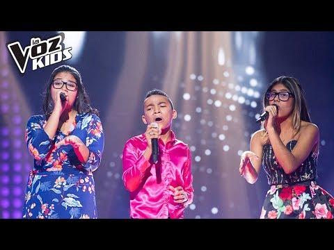 Ybon, Víctor Swing y Saraí cantan A Puro Dolor - Batallas | La Voz Kids Colombia 2018
