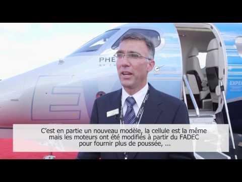 Pilote d'Embraer parle du nouveau avion d'affaires: le Phenom 100 EV
