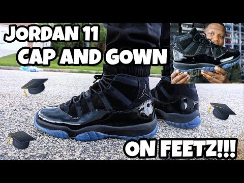 THESE ARE FRESH!!! JORDAN 11 CAP AND GOWN/PROM NIGHT ON FEET REVIEW!!!