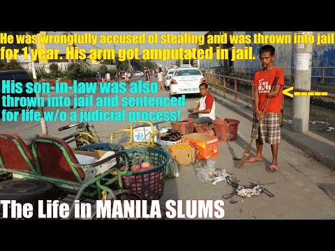 Travel to Manila Philippines and Meet this Man Who has an Amputated Arm. Life in Manila Slums