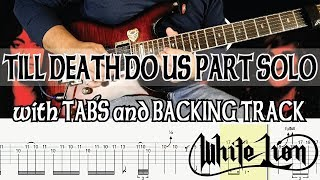 Gambar cover WHITE LION TILL DEATH DO US PART SOLO with TABS and BACKING TRACK - ALVIN DE LEON (2019)