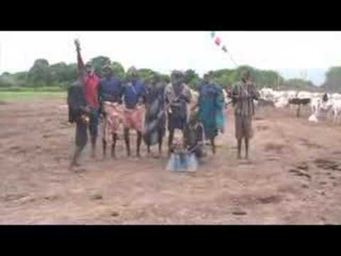 Life In Dinka Cattle Camp - Southern Sudan