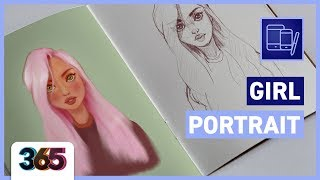 Girl Portrait Drawing | ProCreate Tutorial #57/365 Days of Creativity
