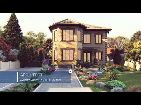 Двухэтажный дом 10-12 в классическом стиле