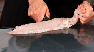 How To Take The Skin Off Flounder | Fish Filleting