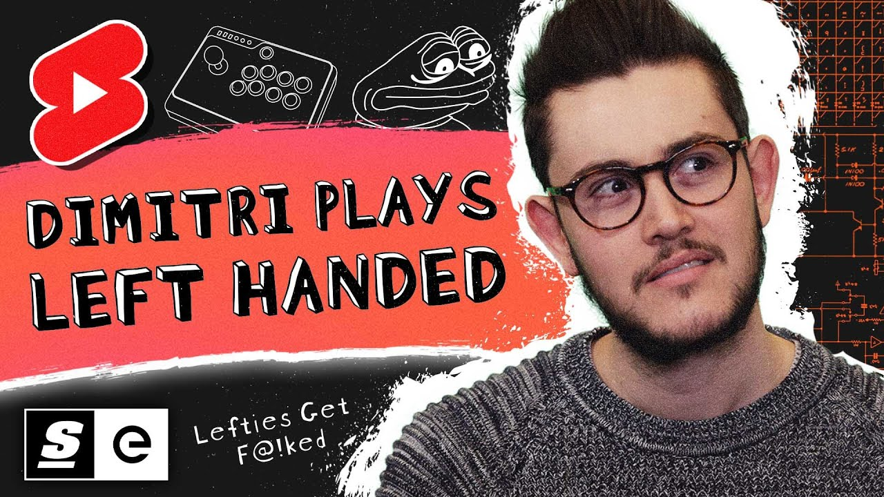 Dimitri tried playing CS:GO left handed...it didn't go too well. #shorts