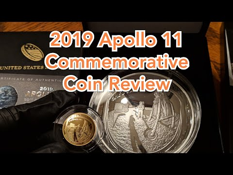 2019 Apollo 11 Gold & Silver Commemorative Coins. My US Mint Coin Collection Buys & Review.