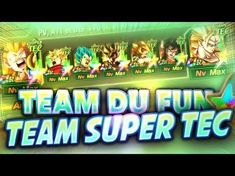 TEAM SUPER TEC DU FUN QUATRE PERSO 100% (team bizarre) - Dokkan Battle
