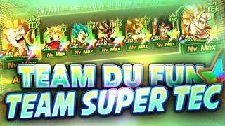 TEAM SUPER TEC DU FUN QUATRE PERSO 100% (Team bizarre) - Dokkan Battle