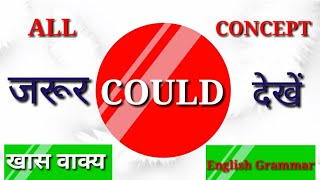 COULD-all concept/very important/YUVI ENGLISH