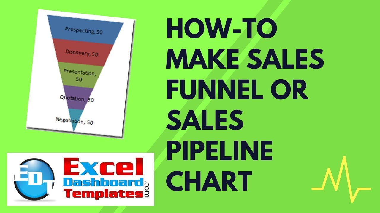 How-to Make Sales Funnel or Sales Pipeline Chart in Excel - YouTube