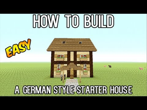 minecraft german style survival house tutorial (lets build) (easy