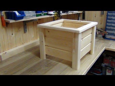 Кашпо. Деревянное кашпо для цветов. Diy wooden planter box