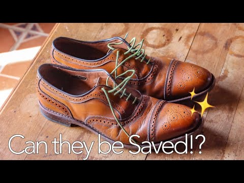 RESTORING OLD ALLEN EDMONDS STRANDS- Shoe Restoration Tutorial and Shine.