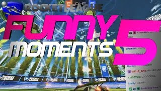 ROCKET LEAGUE FUNNY MOMENTS 5 😆 (FUNNY REACTIONS, FAILS & WINS BY COMMUNITY & PROS!)