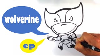 How to Draw Cute Wolverine - Easy Pictures to Draw