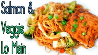 Salmon & Veggie Lo Mein With Angel Hair Easy