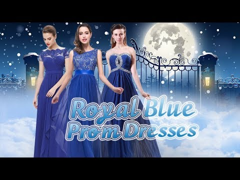 Royal Blue Prom Dresses, 2018 Prom Gowns in Blue, Dark Royal Blue, Navy Blue, Light Blue, Dark Blue