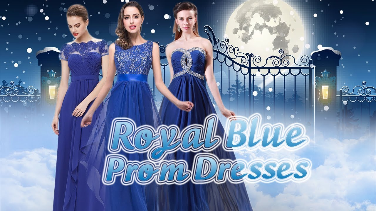 Royal Blue Prom Dresses, 2018 Prom Gowns in Blue, Dark Royal Blue ...