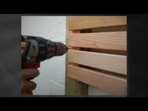 how to build a horizontal cedar slatted fence youtube. Black Bedroom Furniture Sets. Home Design Ideas