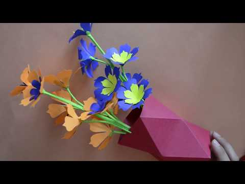 Easy To Make Origami Vasepen Holder Out Of Paper Quick Easy Paper Art