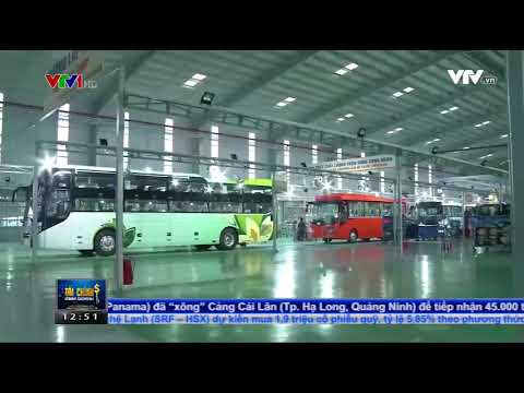 Xe bus của THACO xuất ngoại