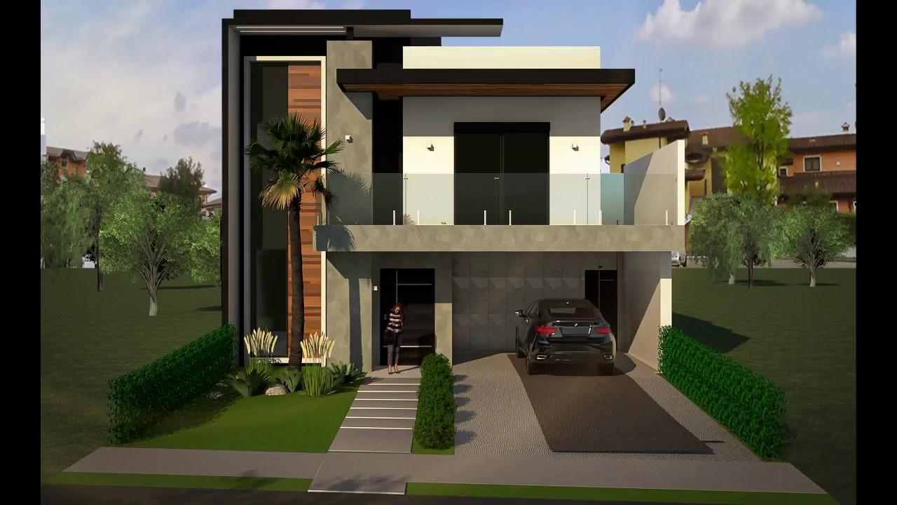 Projeto casa sobrado 10x25 180 m moderna youtube for Casa moderna zurigo