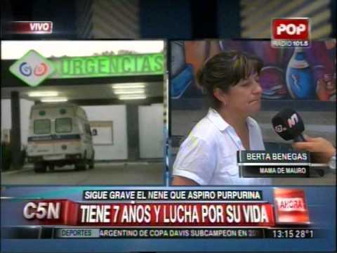 C5N - SANTIAGO DEL ESTERO: ASPIRO PURPURINA Y ESTA EN GRAVE ESTADO