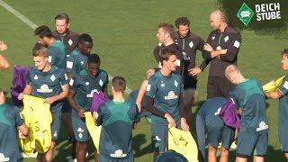 Laufen, Torschüsse und viele Selfies - das Werder-Training in der Länderspielpause