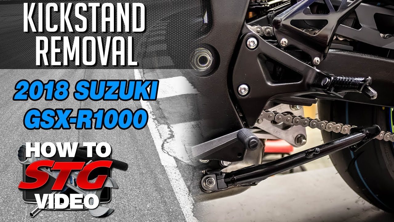 GIXXER 1000 Adjustable Kickstand Lowering Side Stand 2017 2018 GSX-R1000 NICE!