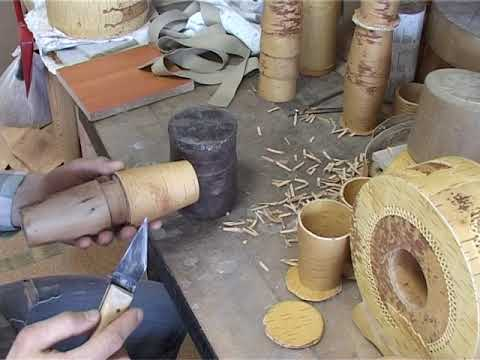 Как делают изделия из бересты