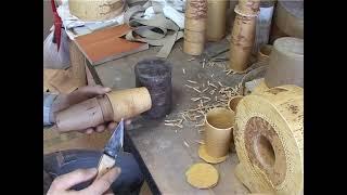 Изготовление стакана из бересты.