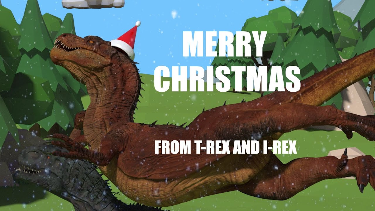 T Rex Christmas.I Rex And T Rex Wish You A Merry Christmas
