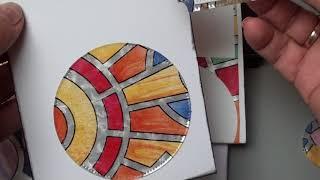 Diy bunte Herbstkarten Ideen, Papier basteln , Stanzentest mit Folien