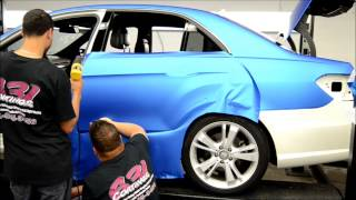 631 Coatings Wrap A Matte Blue Benz