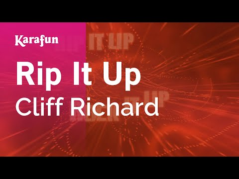 Karaoke Rip It Up - Cliff Richard *