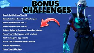 Fortnite: ALL BONUS CHALLENGES IN SEASON 8 | Get free skin styles